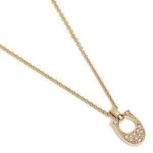 Coach F54517 Pave Signature C Gold Necklace